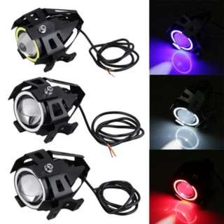 (505)1pc High Power 125W U7 LED Motorcycle Spot Light Driving Headlight Fog Lam