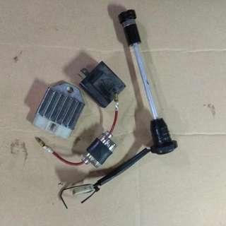 Yamaha RXZ Electrical Parts Lot