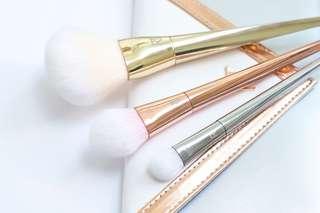 3 piece real technique makeup brush set