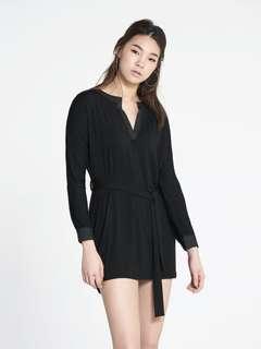 Pomelo Giz Split Neck Belted Dress