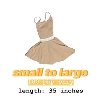 Nude Adjustable Dress