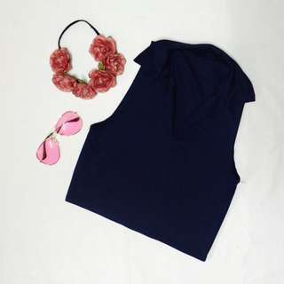 V-Shaped Collared Top