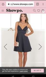 New with tags size 14 showpo dress black
