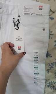 🚚 UNIQLO SLIM BOYFRIEND FIT牛仔褲