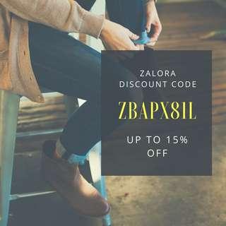 Discount Code (Zalora)