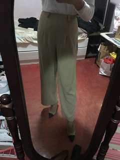 Straight leg Khaki Trousers