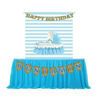 FOR RENT [Baby Cute Kid Cart Backdrop Banner] FOR BIRTHDAY, BABY SHOWER, KIDS PARTY