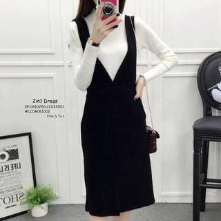 2IN1 DRESS Fits S To L  Price : 450