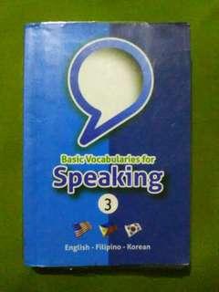 Basic vocabularies for speaking korean