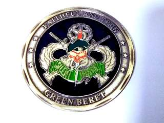 US Special forces Green Beret coin