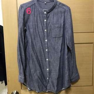 🚚 無印良品 藍灰色襯衫