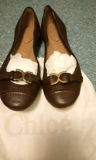 🚚 CHLOE金屬元素娃娃鞋咖啡 39