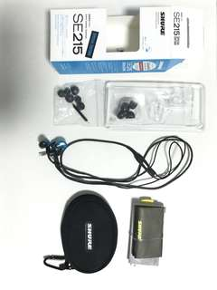 Shure SE215 blue earphones - special edition