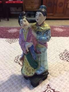 Husband & Wife Porcelain Figurine