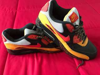Nike Air Max 90 Premium Sertig Pack (rare) Black/Chilli Red -Taxi Anthracit - size US12 Brand New