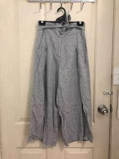 Grey Linen Culottes