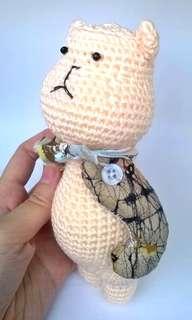 Bear Amigurumi Handmade Crochet Bear Stuffed Toy