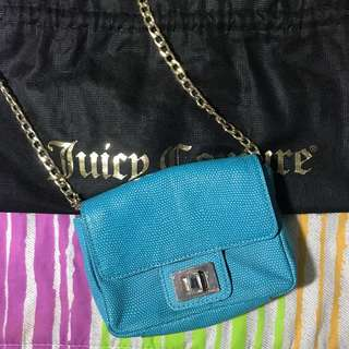 JUICY COUTURE Blue Chain Sling Bag
