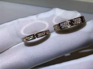 Cartier LOVE rings, SM / Wedding band