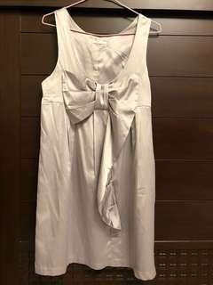 🚚 灰色蝴蝶結小禮服洋裝