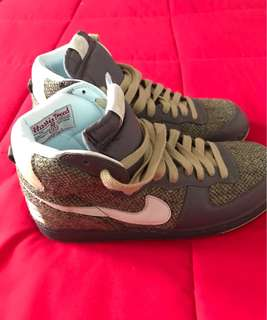 Rare 🔥 Nike Terminator Hi Harris Tweed Flint Grey Glacier Blue Faded Green size US11 (brand new)