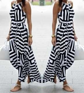 Flowy summer long dress