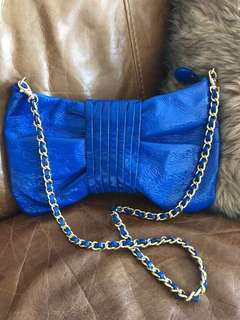 Badgley Mischka Cobalt Blue Crossbody Bag
