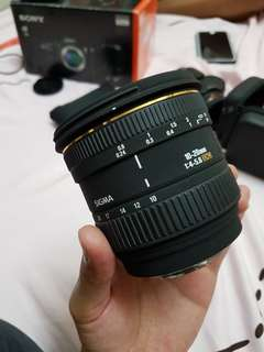 Sigma 10-20 Sony A-mount lens