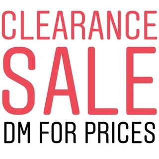 CLEARANCE SALE. CHAT ME FOR DISCOUNT