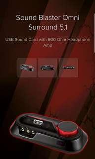 Creative Sound Blaster Omni 5.1 Surround external sound card