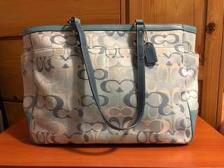 Coach 粉藍色大奶粉袋