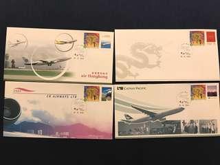 2004 香港郵政發行之香港機場首日封連郵票