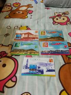 Hong Kong Post stamp 香港郵政郵票小型張 1997郵展共五張