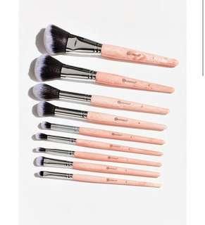 [🥀SLOTS 0/15] BH Cosmetics rose quartz 9 piece brush set po
