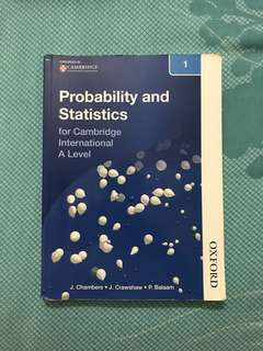 Cambridge A-levels - (ORIGINAL) Probability and Statistics 1 Mathematics