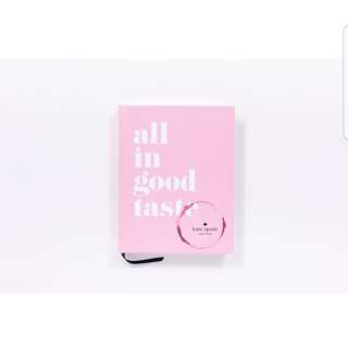 Kate Spade It's all about good taste book