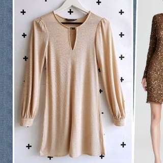 Dress shift gold DOROTY PERKINS