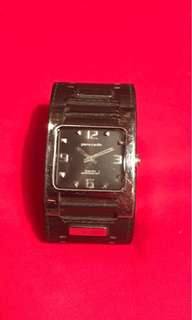PIERRE CARDIN GENUINE LEATHER RECTANGULAR WATCH