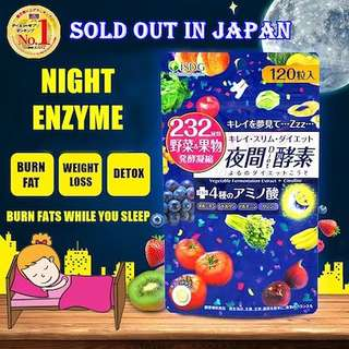 🍕Wake Up Slimmer🍔 ISDG 232 NIGHT Diet Enzyme (120 Tablets) - Ishokudogen