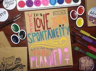 Hand Painted Kraft Notebook