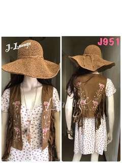 🚚 J951全新英國England October 類麂皮質感流蘇繡花精緻造型背心民族風波希米亞嬉皮 hippie tassel vest J-Lounge