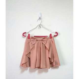 🚚 腰飾蝴蝶結荷葉邊褲裙