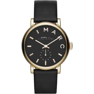 🚚 Marc By Marc Jacobs Ladies' Black Leather Strap Baker Watch MBM1269 36mm