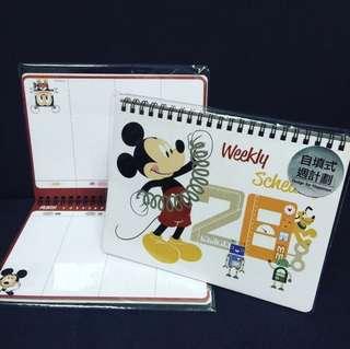 包郵🔩全新台灣製 迪士尼正版 米奇老鼠Mickey Mouse自填式年份日記簿