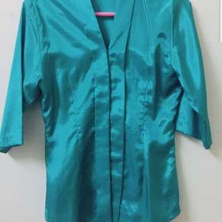 Kebaya Set in Teal colour