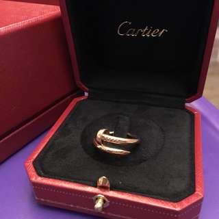 Cartier Juste un clou Ring 玫瑰金戒指