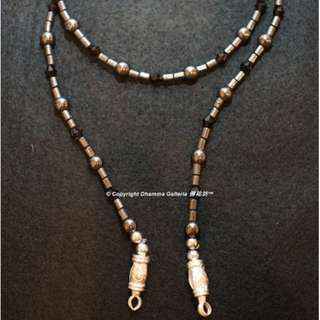 Kruba Noi, Leklai Kasatorn Necklace, B.E. 2557, (A.D. 2014), Wat Sri Don Moon, Chiang Mai, Thai Buddhist Amulet (First Hand, Unused)