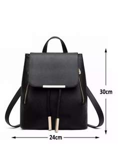 Korean classic zippered rucksack school bag
