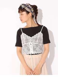 🚚 全新 日本購入 LOWRYS FARM 夏季 蕾絲細肩帶外搭背心