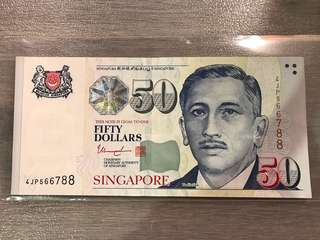Singapore $50 <4JP566788> Ladder number